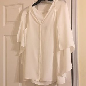 🔥Sale! NWT! Caped tank blouse. White.